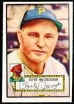 1952 Topps Baseball- #218 McCullough, Pirates