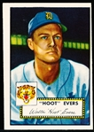 1952 Topps Baseball- #222 Hoot Evers, Tigers