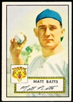 1952 Topps Baseball- #230 Matt Batts, Tigers