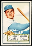 1952 Topps Baseball- #239 Rocky Bridges, Dodgers