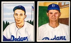 1950 Bowman Bb- 2 Brooklyn Dodgers
