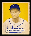 1949 Bowman Bb- #162 Preacher Roe, Brooklyn- Hi#.