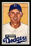 1951 Bowman Bb- #7 Gil Hodges, Brooklyn