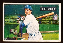 1951 Bowman Baseball- #32 Duke Snider, Brooklyn