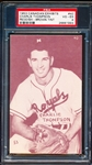 1953 Canadian Baseball Exhibit- #40 Charlie Thompson, Montreal- Reddish/ Brown Tint- PSA Vg-Ex 4