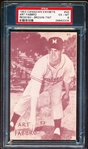 1953 Canadian Baseball Exhibit- #45 Art Fabbro, Montreal- Reddish/ Brown Tint- PSA Ex-Mt 6