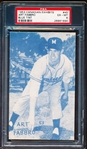 1953 Canadian Baseball Exhibit- #45 Art Fabbro, Montreal- Blue Tint- PSA Ex-Mt 6