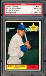 1961 Topps Baseball- #141 Billy Williams RC, Cubs- PSA Mint 9 (OC)