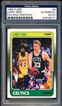 1988-89 Fleer Basketball- #9 Larry Bird, Celtics- PSA/DNA Authentic Certified Autograph