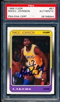 1988-89 Fleer Basketball- #67 Magic Johnson, Lakers- PSA/DNA Certified Authentic Autograph