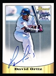 "1998 Bowman Baseball- Certified ""Autograph""- #4 David Ortiz"