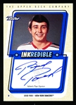 "1999 Upper Deck Retro Hockey- ""Inkredible""- Certified Autographed Card- #BP Brad Park, Rangers"