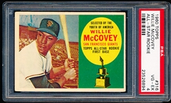 1960 Topps Bb- #316 Willie McCovey- Rookie- PSA Vg-Ex 4