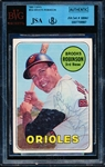 1969 Topps Bb- #550 Brooks Robinson, Orioles- Autographed- JSA/Beckett Authentic