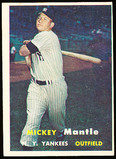 1957 Topps Baseball 95 Mickey Mantle Yankees