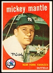 1959 Topps Baseball- #10 Mickey Mantle, Yankees