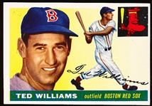 1955 Topps Bb- #2 Ted Williams, Red Sox