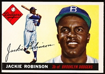 1955 Topps Bb- #50 Jackie Robinson, Dodgers