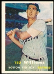 1957 Topps Baseball- #1 Ted Williams, Red Sox