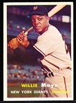 1957 Topps Baseball- #10 Willie Mays, Giants