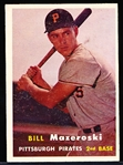1957 Topps Baseball- #24 Bill Mazeroski RC