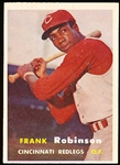 1957 Topps Baseball- #35 Frank Robinson, Reds- Rookie!