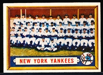1957 Topps Baseball- #97 Yankees Team