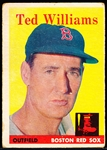 1958 Topps Baseball- #1 Ted Williams, Red Sox