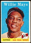 1958 Topps Baseball- #5 Willie Mays, Giants