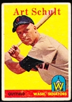 1958 Topps Baseball- #58 Schult, Washington- Yellow Team