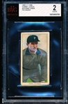 1909-11 T206 Bb- Tommy Leach, Pittsburg- Bending Over Pose- BVG 2 (Good)- Piedmont 460 back.
