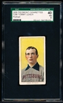 1909-11 T206 Bb- Tommy Leach, Pittsburg- Portrait Pose- SGC 40 (Vg 3)- Piedmont 150 back.