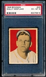 1949 Bowman Bb- #45 Wally Westlake, Pirates- PSA Ex-Mt 6- gray back.