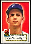 1952 Topps Baseball- #87 Dale Coogan, Pirates