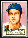 1952 Topps Baseball- #166 LaPalme, Pirates