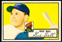 1952 Topps Baseball- #170 Gus Bell, Pirates