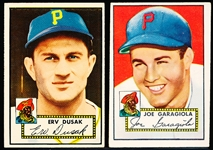 1952 Topps Baseball- 2 Diff Pirates
