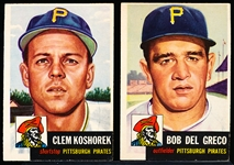 1953 Topps Baseball- 2 Diff Pirates
