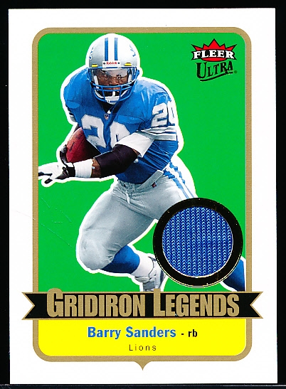 "2007 Ultra Ftbl. ""Gridiron Legends Material"" #GL-BS Barry Sanders, Lions"