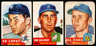 1953 Topps Bb- 4 Diff