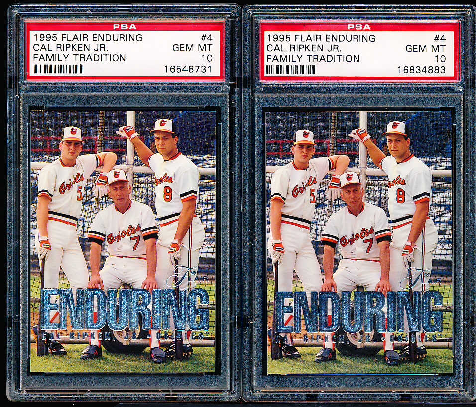 Lot Detail 1995 Flair Baseball Cal Ripken Jr Enduring