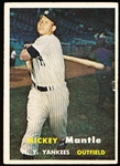 1957 Topps Bb- #95 Mickey Mantle, Yankees