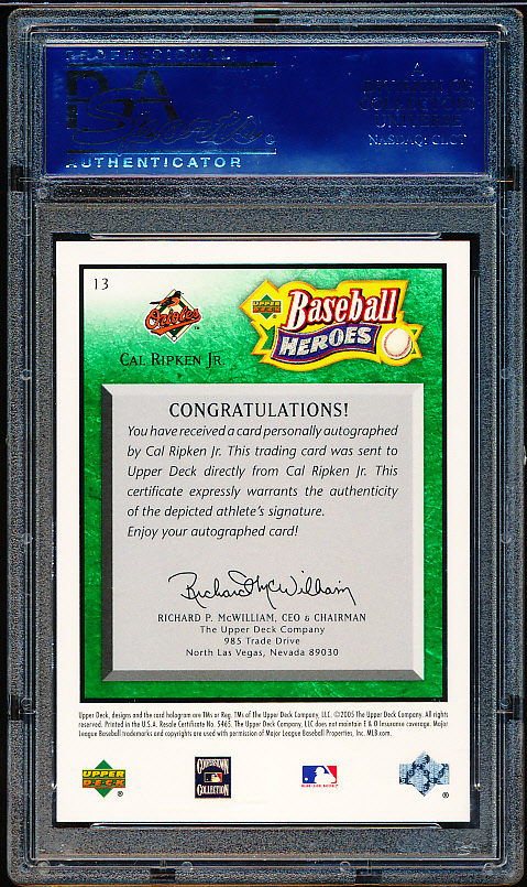 Lot Detail 2005 Upper Deck Baseball Heroes Signature