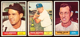 1961 Topps Bb- 9 Cards