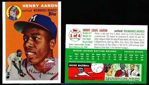 2000 Topps Fanfest - #1 of 4 Hank Aaron (Rookie Card Error)- 25 Cards