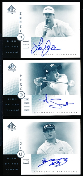 2001 SP Authentic Golf- Sign of the Times- 3 Diff