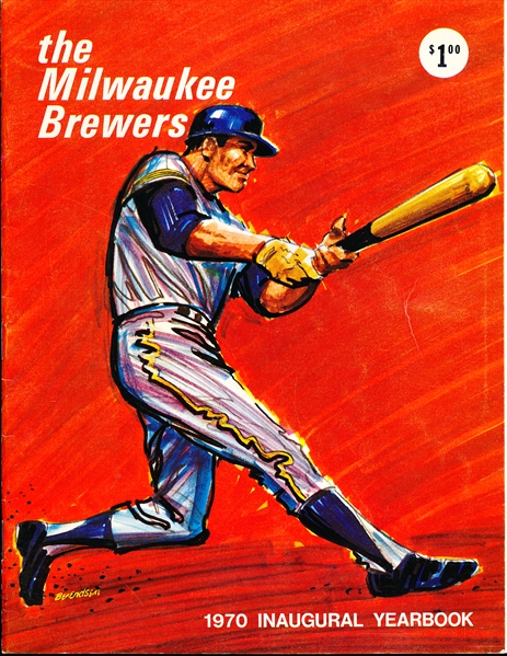 1970 Milwaukee Brewers MLB Yearbook- 1st One!