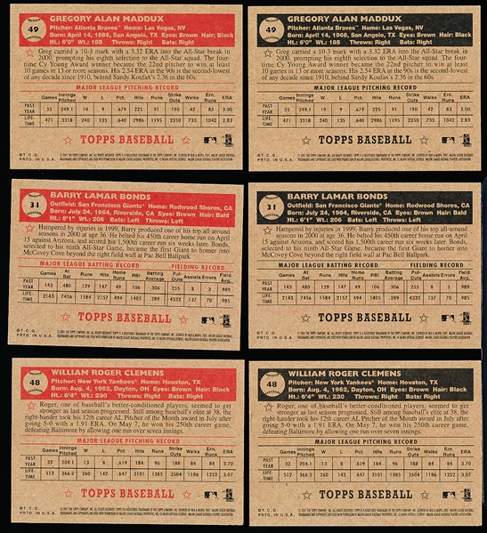 2001 Topps Heritage Bsbl.- 6 Diff. SP's