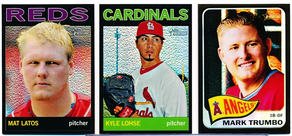 "2013-14 Topps Heritage Bsbl.- 3 Diff. ""Black Chrome Refractors"""