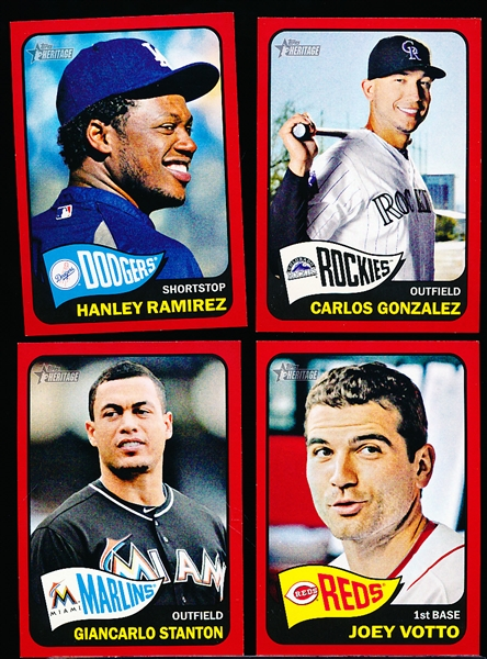 "2014 Topps Heritage Bsbl.- 4 Diff. ""Red Borders"""